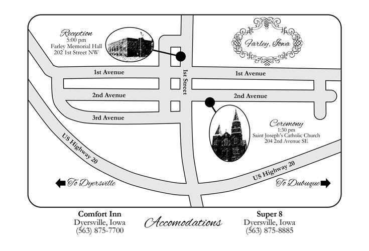 How to Paint a Wedding Map Unique Wedding Invitations Custom