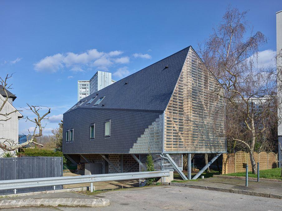 maison individuelle neuve rt 2012 rennes 35 zone inondable et mnm architectes. Black Bedroom Furniture Sets. Home Design Ideas