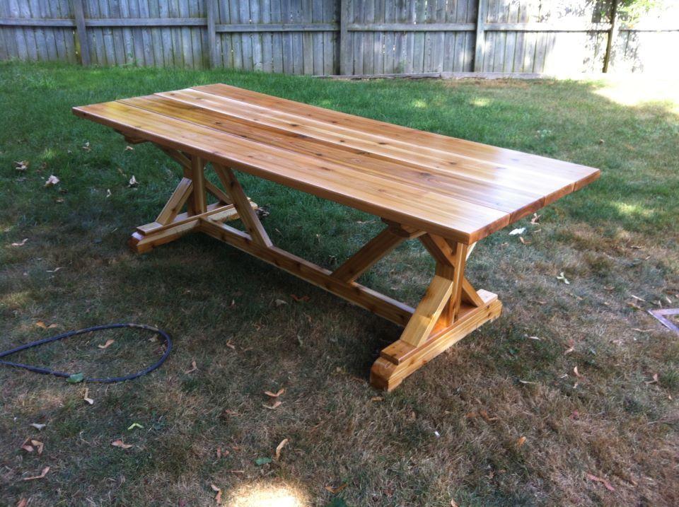 FANCY X FARMHOUSE TABLE Made Out Of Cedar