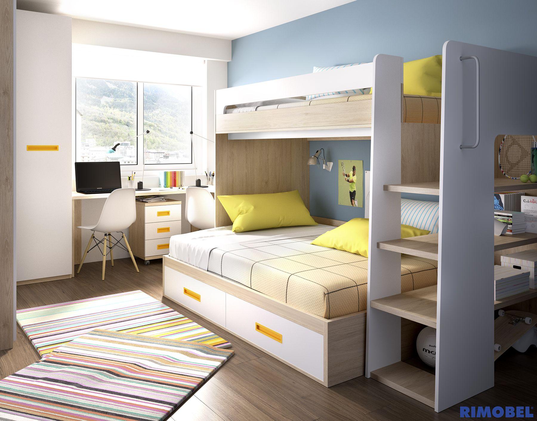 F 82 habitaci n juvenil para aprovechar al m ximo el for Habitacion con litera
