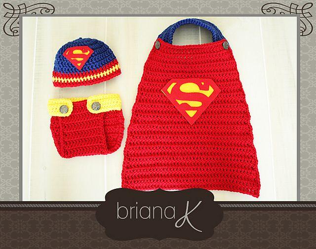 Ravelry: Superman/ Superbaby Newborn-12 Months pattern by Briana K ...