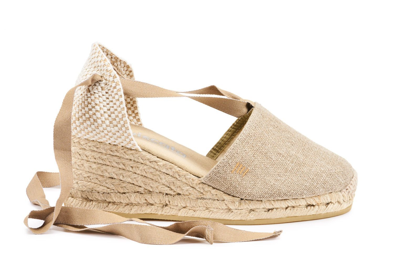5352e989454 Escala Linen Wedges - Taupe | Products | Wedges, Spanish espadrilles ...