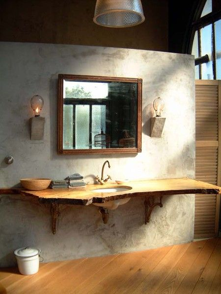 So Pinteresting 7 Inspiring Bathrooms Wood Slab Decor Wood Vanity