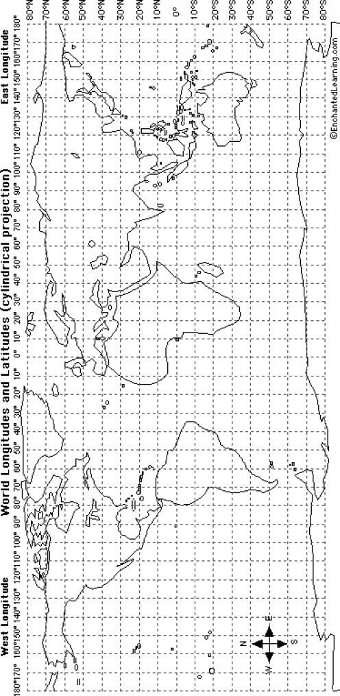 Materials and Directions for Teaching Latitude and Longitude With ...