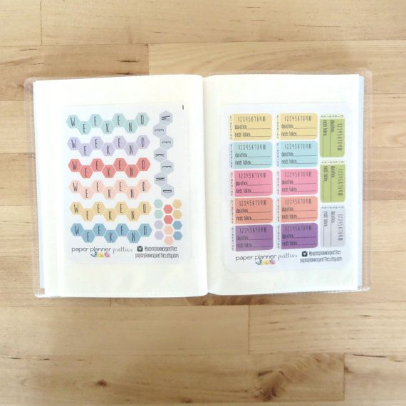 Personalized Planner Sticker Album Book Inkwell Press planner