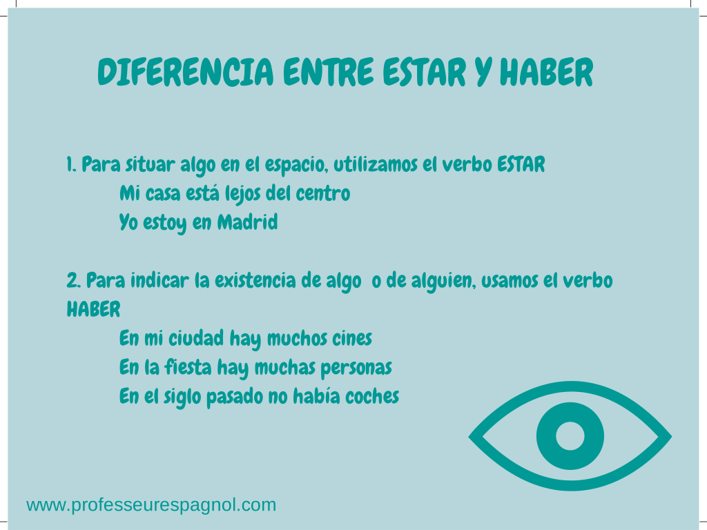 Diferencia Entre Haber Y Estar Nivel A2