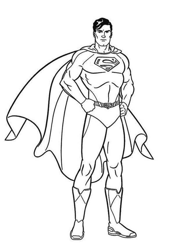 Color pages of superman superman superman picture for Super man coloring page
