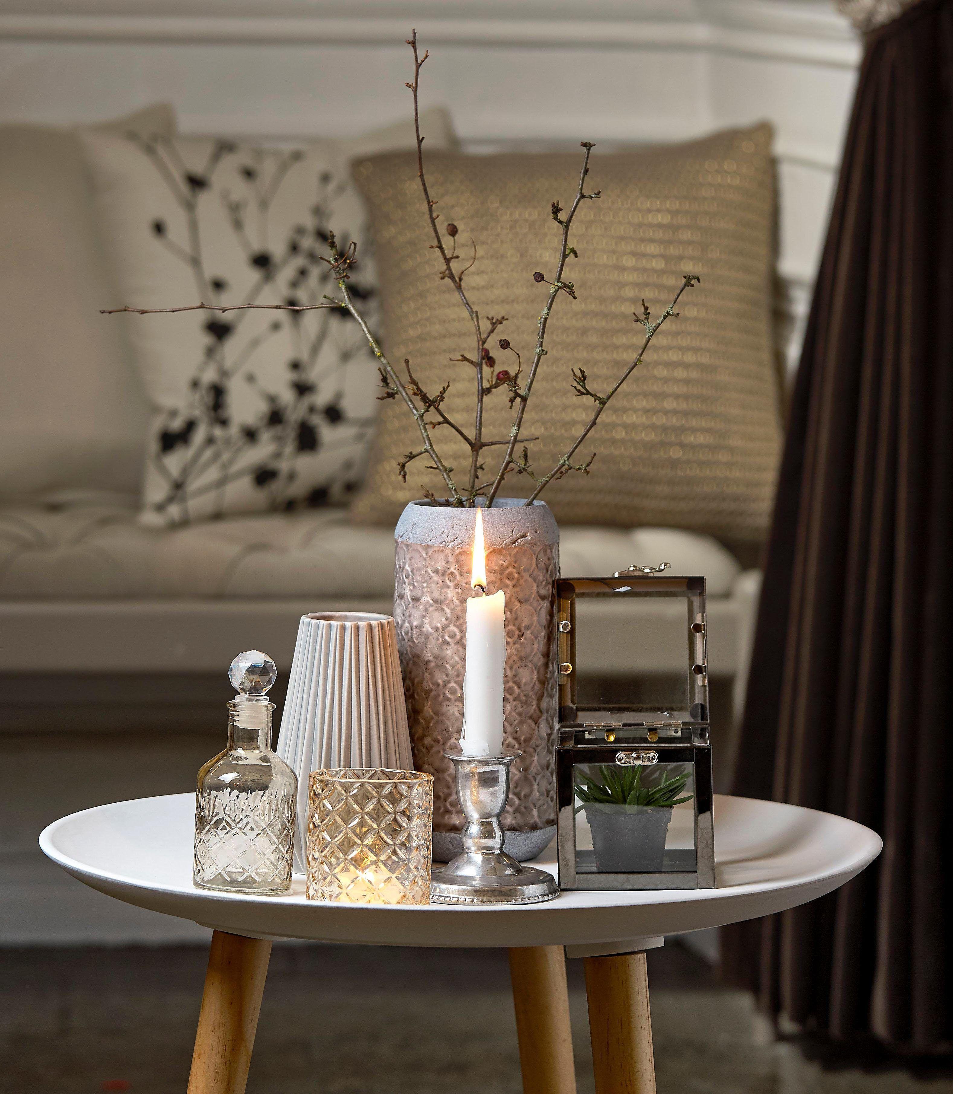 Wohnzimmer Deko Otto: Villa Collection Denmark Vase Im Zement Look