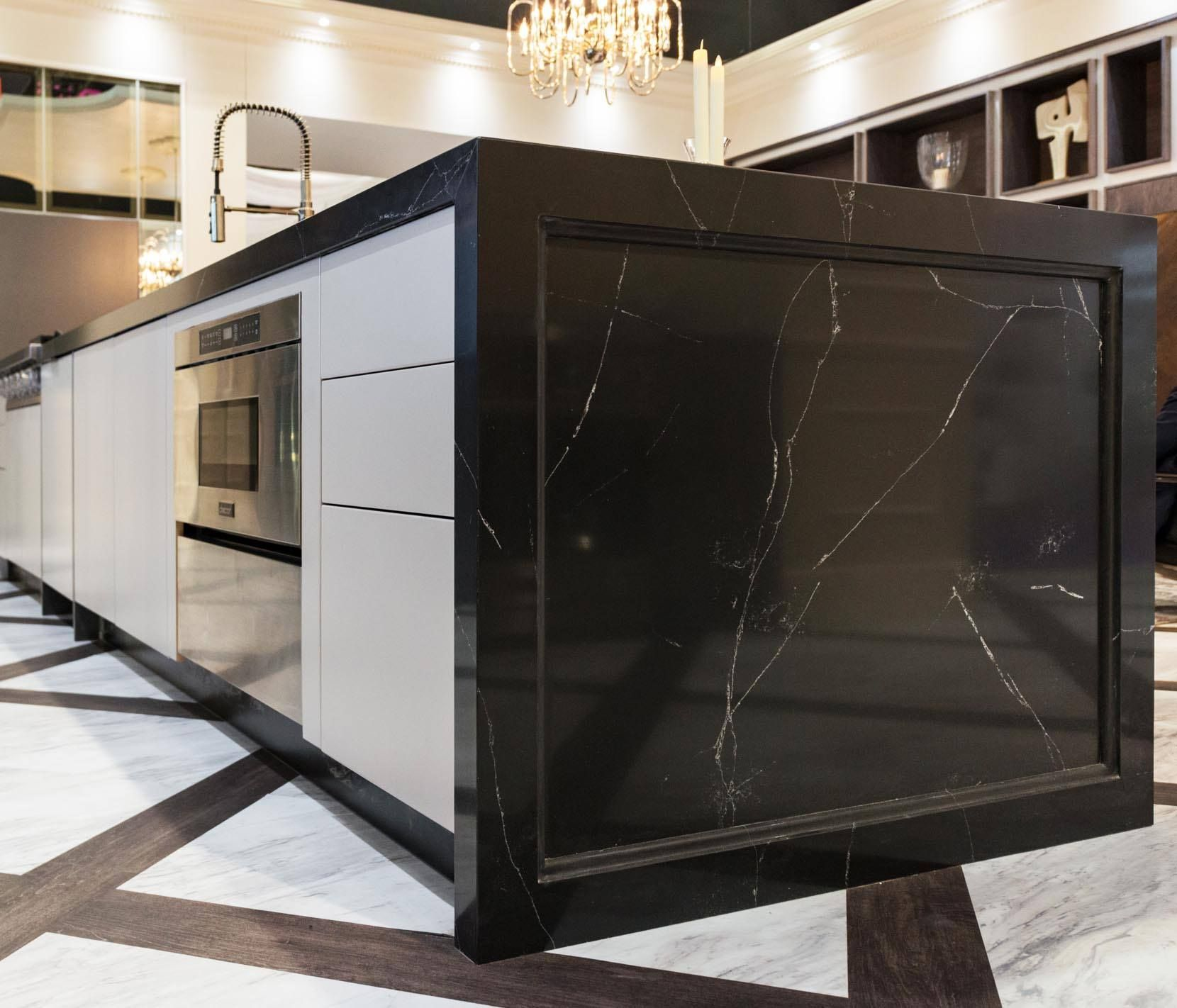 Compac Quartz In This Island Dacor Used Unique Marquina The