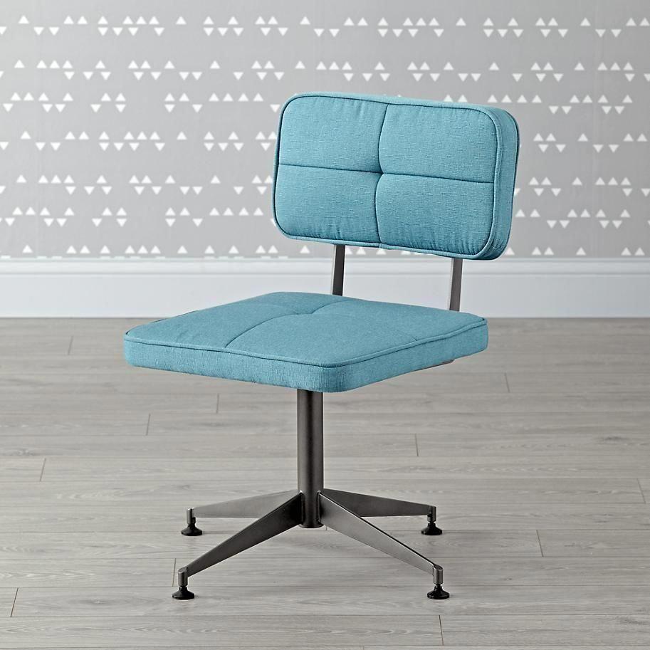 tuft aqua desk chair the land of nod deskchairsforkids movie rh pinterest com Round Chair Cushions Aqua Dining Chair Cushions