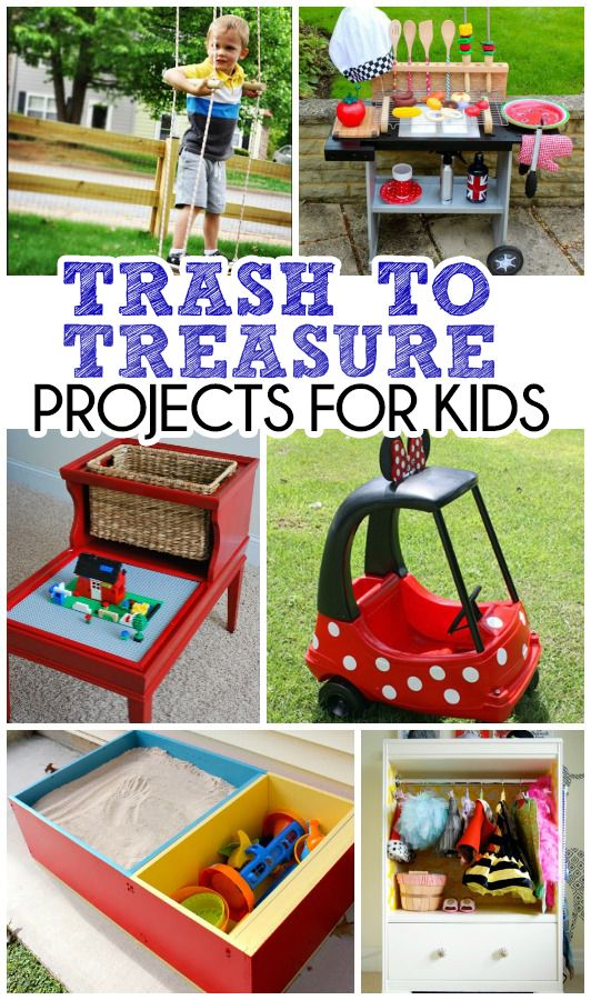 Trash To Treasure | Upcycled Projects For Kids - The Realistic Mama
