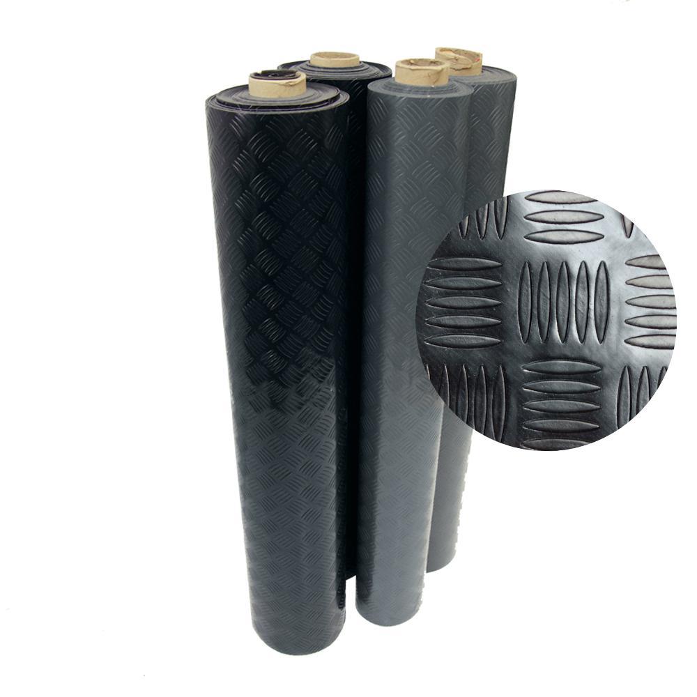 Rubber Cal Diamond Grip 4 Ft X 13 Ft Black Commercial Pvc Flooring Pvc Flooring Rubber Flooring Flooring