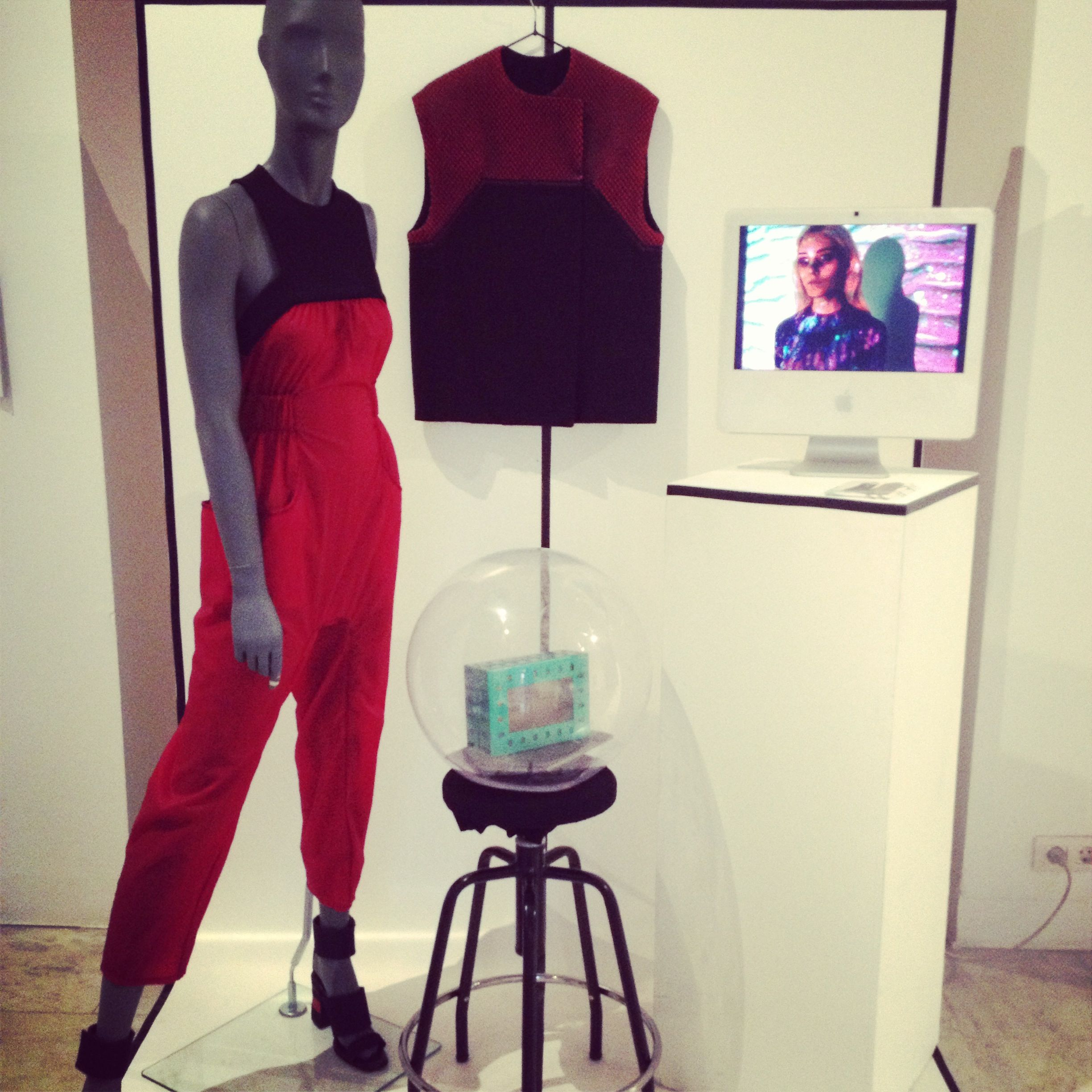 ... exposition - TRANSLUCENT JUMPSUIT & TECH VEST... #kissharder #kiss #harder #cool #hot #swag #fashion #style #brand #onlinestore #streetstyle #modern #youth #tech #vest #jumpsuit #red #black #exposition #madrid
