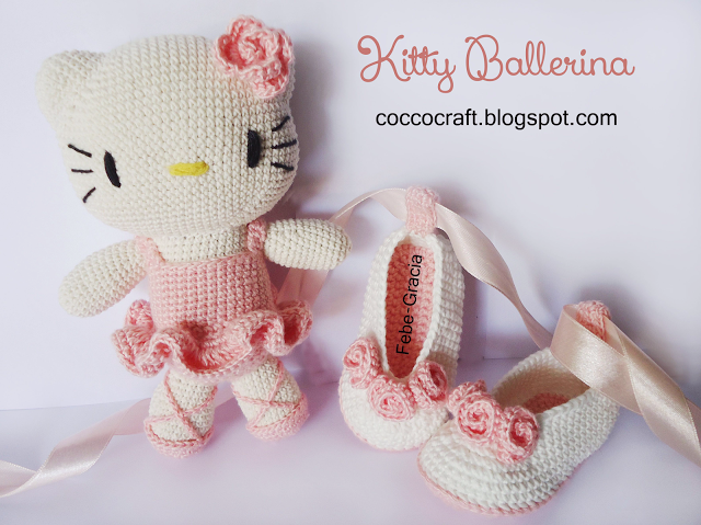 Kitty Ballerina Amigurumi And Baby Shoes Crochet Pattern | Amigurumi ...
