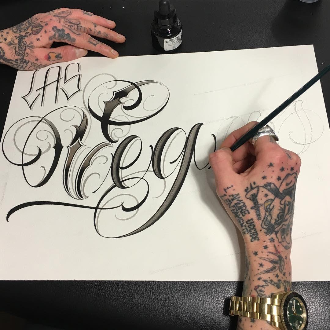 Las Vegas Sketch Tattoo Lettering Fonts Tattoo