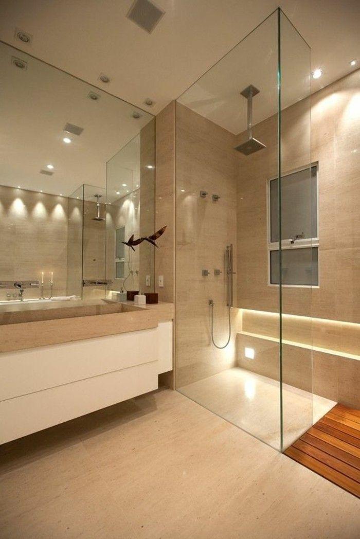 Badgestaltung Ideen Traumbader Badezimmer In Beige Duschkabine Aus Glas