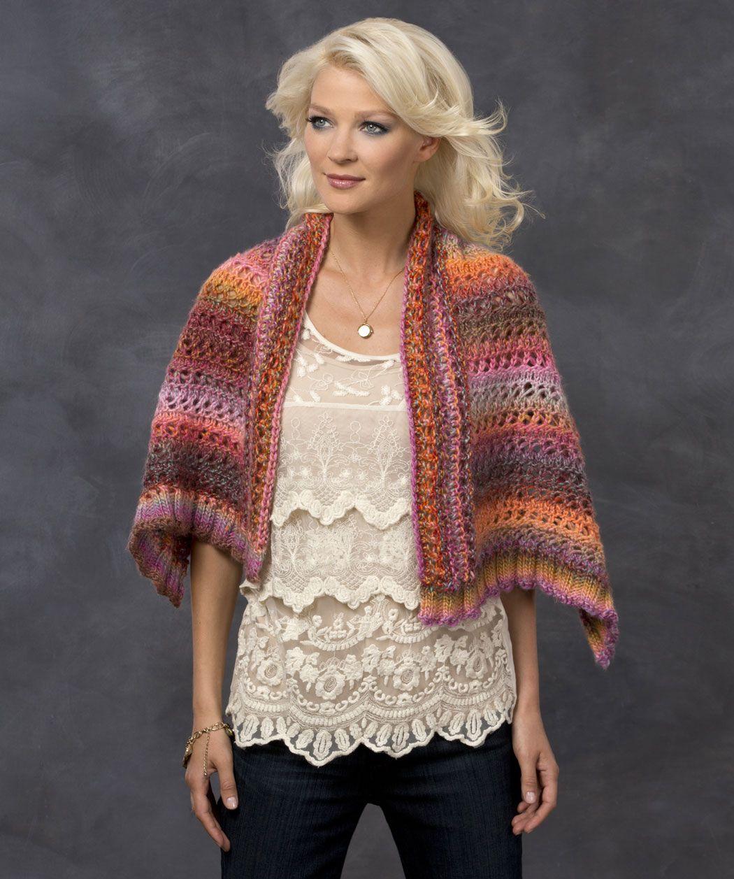 sunset wrap knitting pattern knit shawl wool amp fabric