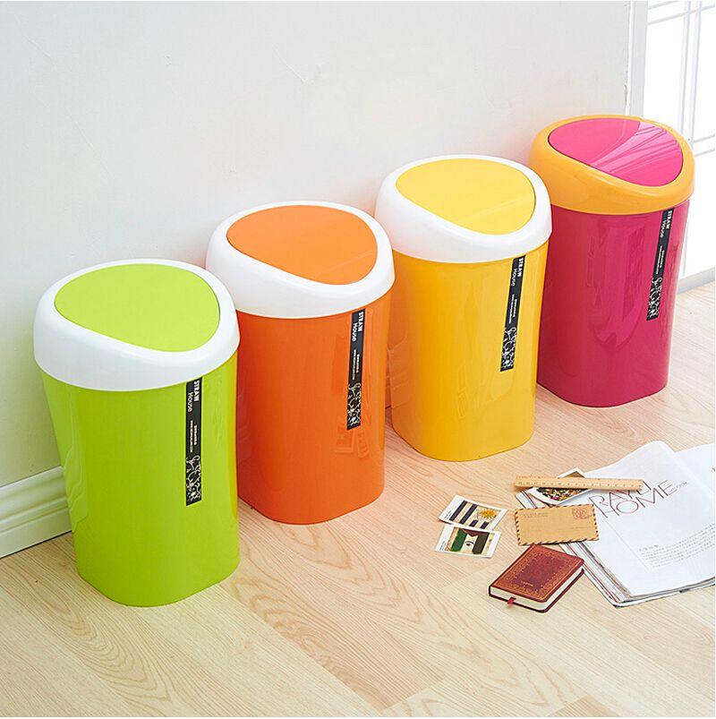 Caramelo rollo de color de la cubierta del cubo de basura cubo de almacenamiento reciclaje - Cubos de basura originales ...