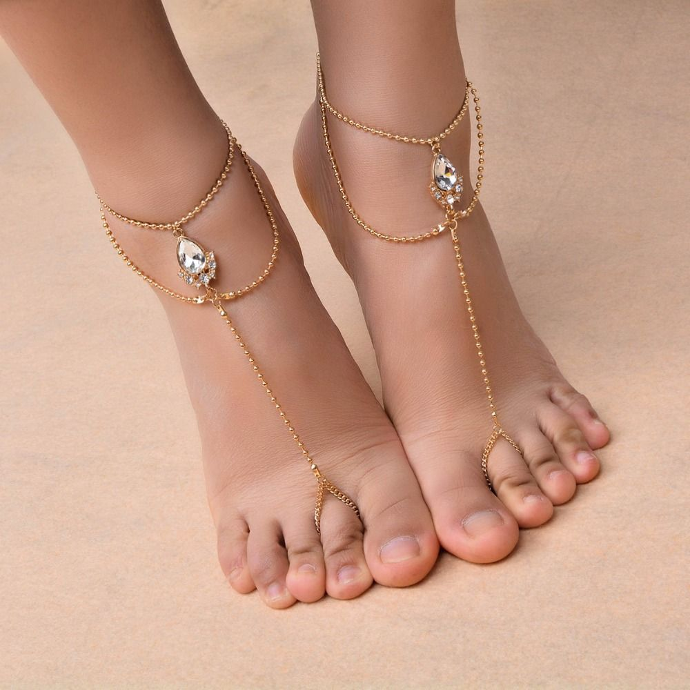 Like and Share if you want this Bead Crystal Anklet Wedding Foot