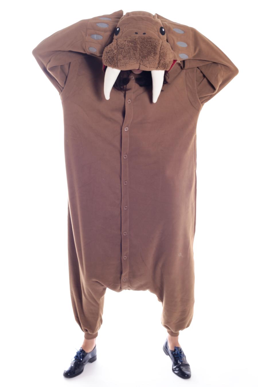 54aa84c8ee14 Walrus Kigurumi Onesie Adult Animal Costume Pajamas