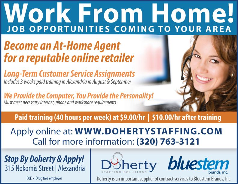 Doherty is seeking At-Home Agents to provide call center services - 9 sample job fair reports