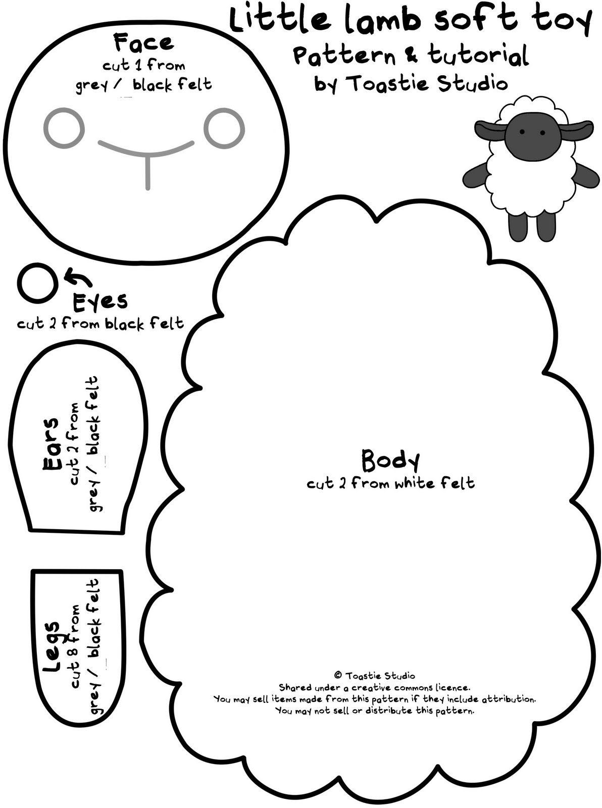Petit agneau motif de peluche & tutoriel - Cuddles main   D.I.Y. ...