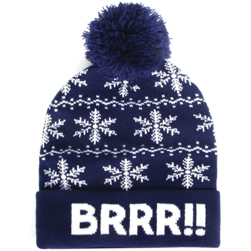 Bonnet à pompon homme – Brrr – Bleu – THE HOME DECO FACTORY