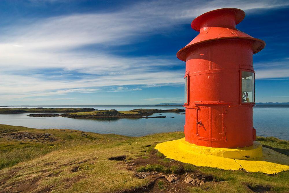 Der rote Leuchtturm von Michael H. Voß