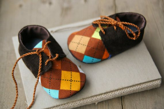 Hey, I found this really awesome Etsy listing at https://www.etsy.com/listing/181026054/baby-boy-brown-colorful-argyle-shoes