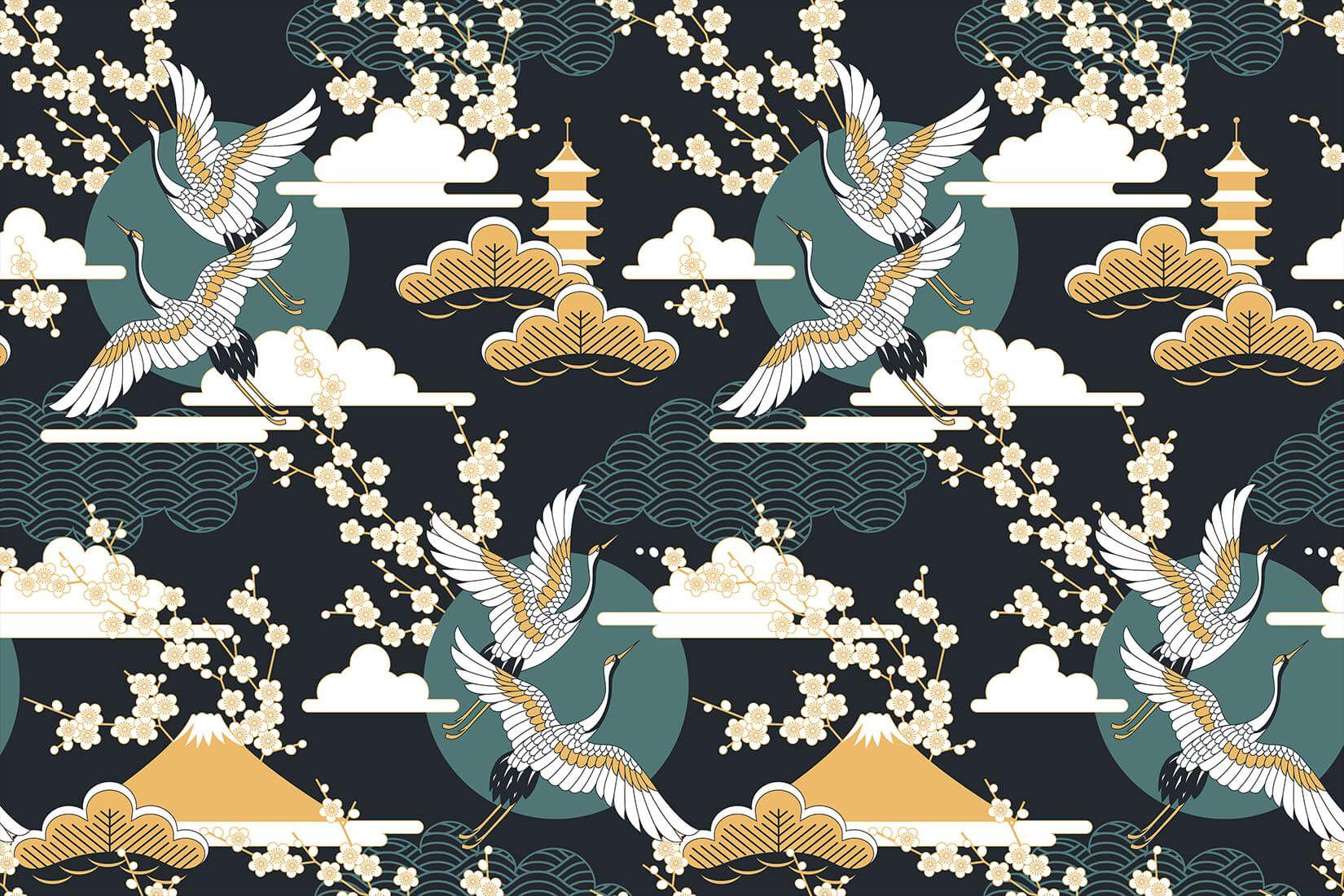 Dunkler orientalischer Himmel Tapete Oriental wallpaper