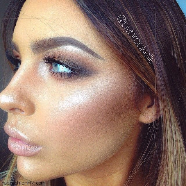 Perfect contour and highlight for glowing makeup look. #contour ...