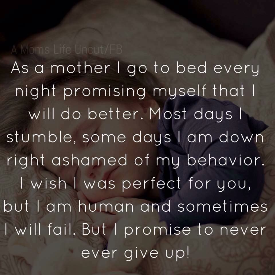 I Wont Ever Give Up I Promise Quotes For My Sons Mommy Quotes