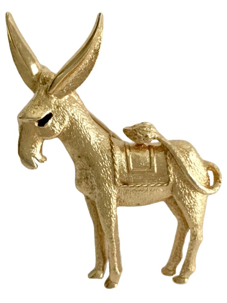 What necessary vintage donkey brooch that would