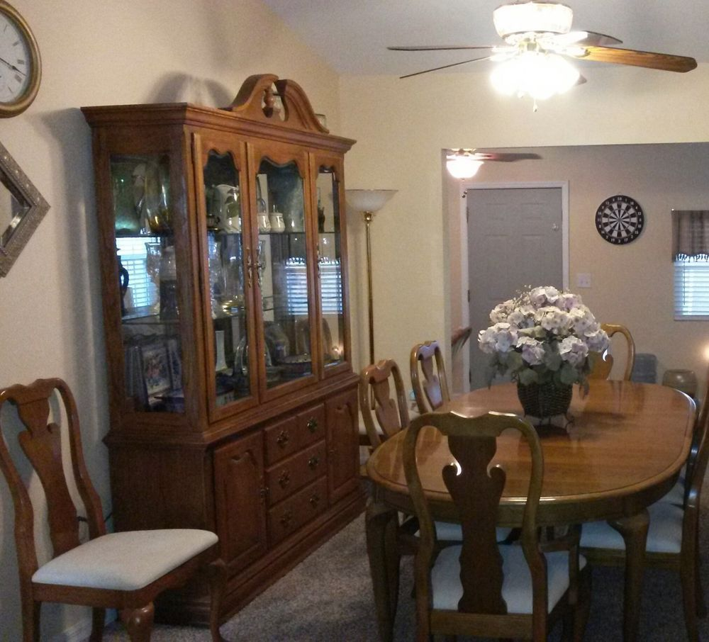 modern dining room hutch. Oak Dining Room Set Has 12 Pieces - Table/chairs And Matching Hutch, Gently Used Modern Hutch A
