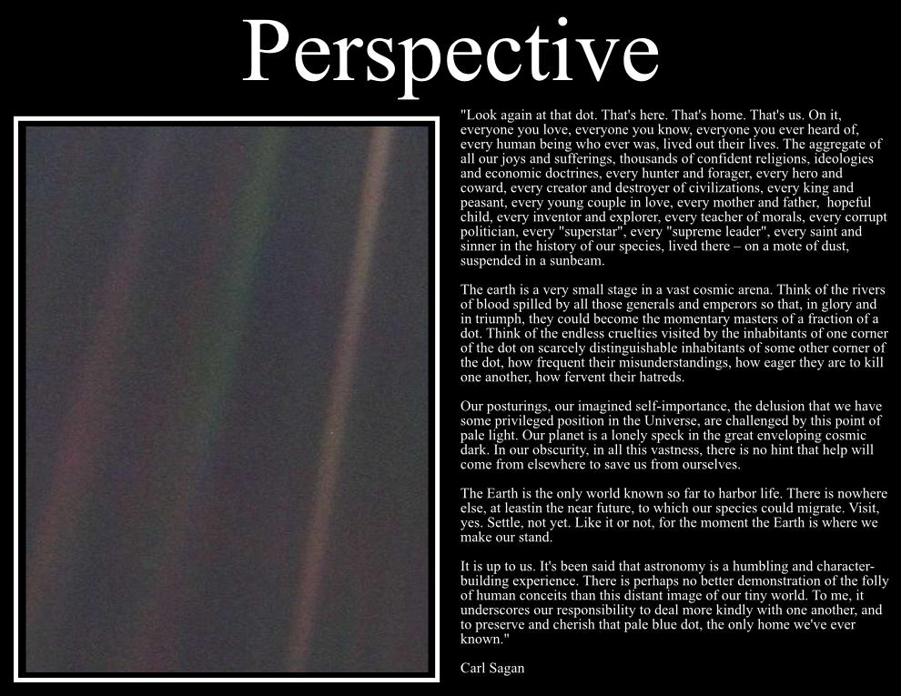 perspective carl sagan quotes to