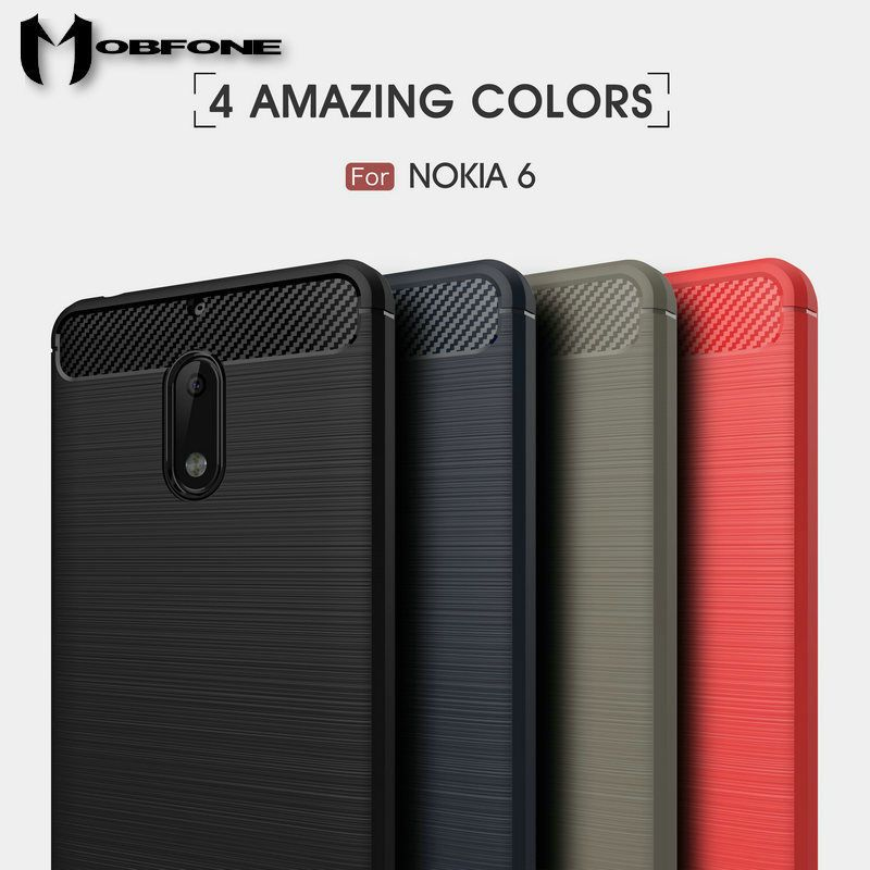 another chance 7fd5a 9106c Details about Slim Soft TPU Carbon fiber Back Case Cover For Nokia 1 ...