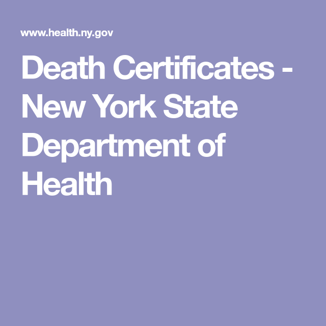 Death Certificates New York State Department Of Health Ancestry