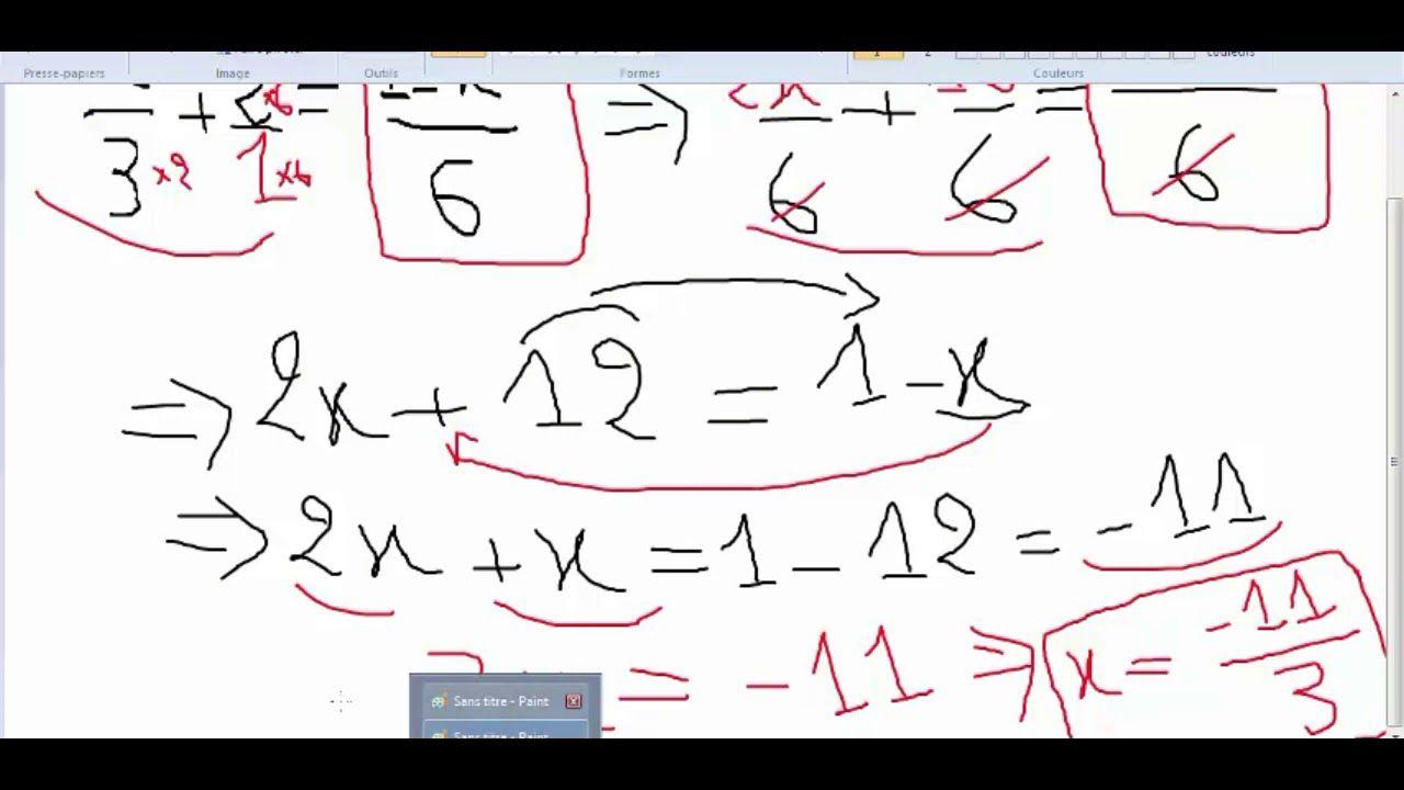 للمبتدئين حل المعادلة من الدرجة الأولى بمجهول واحد الجزء 2 Math Math Equations