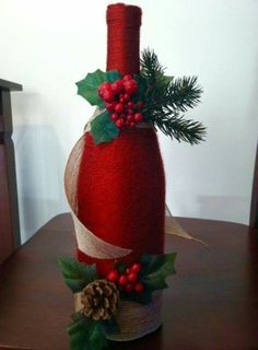 garrafa revestida com l weihnachten weihnachten flaschen und geschenke. Black Bedroom Furniture Sets. Home Design Ideas