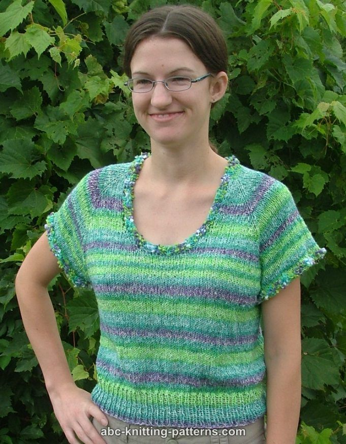 ABC Knitting Patterns - One-Skein Summer Top-Down Top | knitting ...