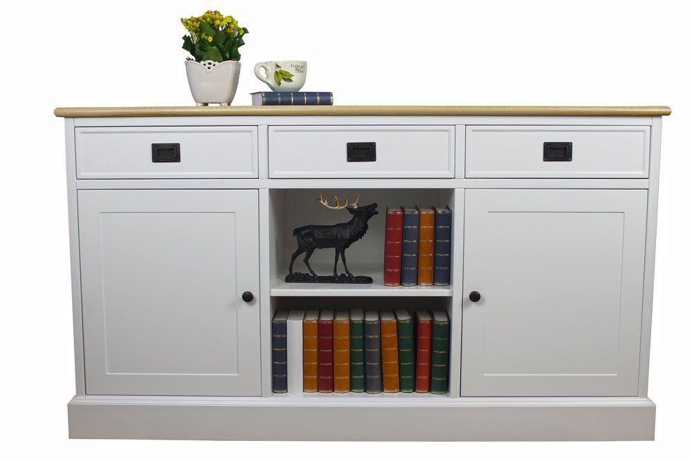 Biala Komoda W Stylu Prowansalskim Klarisa Z Debowym Blatem Komody Furniture Decor Home Decor