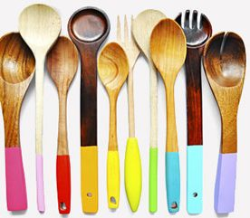 This Would Look Awesome In The Kitchen Displayed Like Art. Find Cheap Used  Wooden Spoons And Paint In Kitchen Colors!
