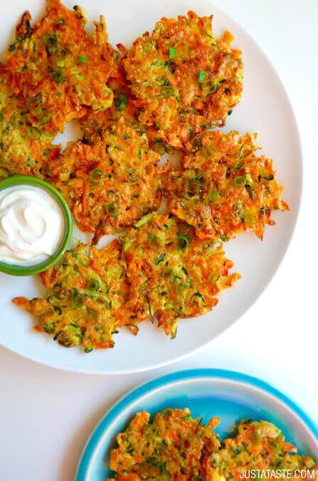 Schnell und Knusprige Gemüse Fritters Rezept