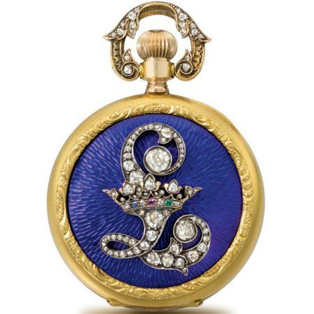 Pocket watch made for King Ludwig of Bavaria. http://journal.hautehorlogerie.org/fr/passion/auction/the-worlds-most-attractive-watches-at-auction-at-christies-geneva-in-may-1729/