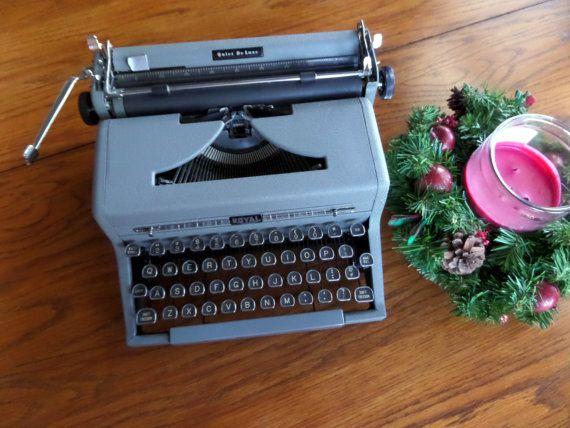 Royal Quiet Deluxe Manual Typewriter  Gray by MahoganyRhino