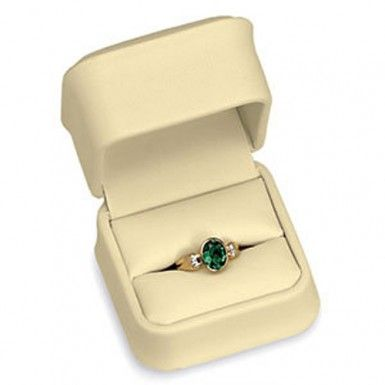 Creme Milano Collection Single Ring Box...(ST61-7190:100002:T).! Price: $9.99 #ringbox #jewelrybox