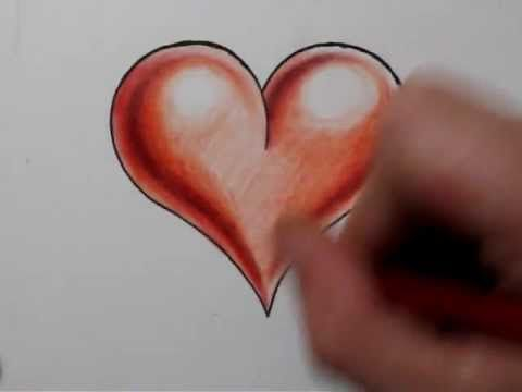 How To Draw A Heart Shape And Add 3d Shading Real Time Sketch 14