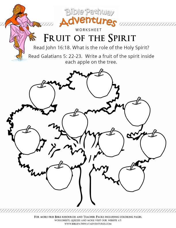 photograph regarding Printable Fruit of the Spirit titled Free of charge Bible Worksheet: Fruit of the Spirit Sparks 2016-2017
