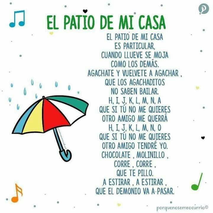 Pin By Amrita Patil On Letras De Canciones Infantiles Spanish Lessons For Kids Spanish Learning Activities Nursery Songs
