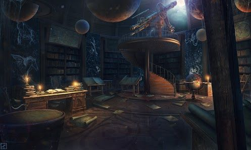 Steampunk Tendencies Google Concept Art Fantasy Landscape Observatory